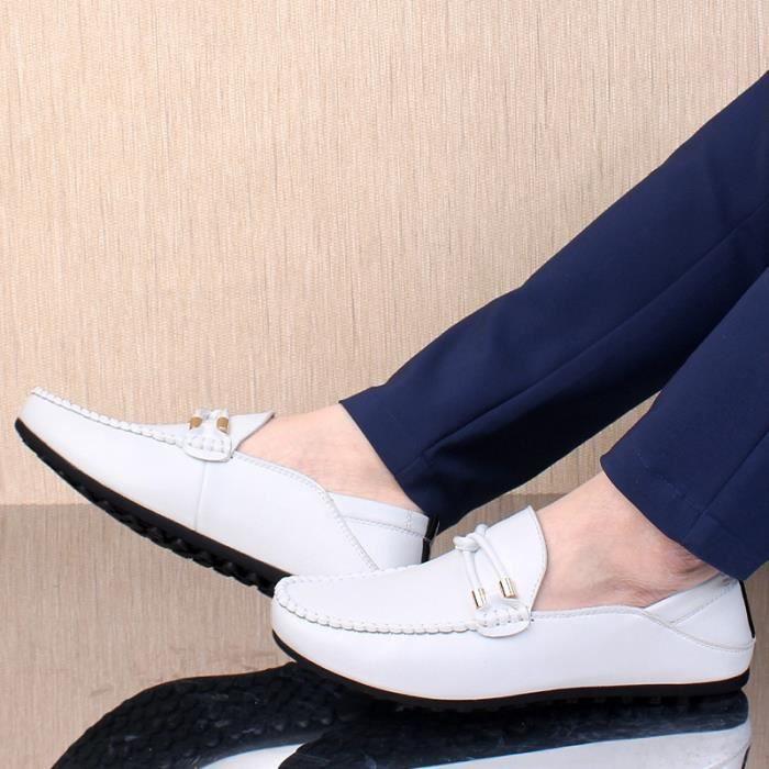Chaussures causales Automne Printemps Hommes Mocassins de haute qualité en cuir véritable Mocassins Hommes Chaussures uiTZ5hbS