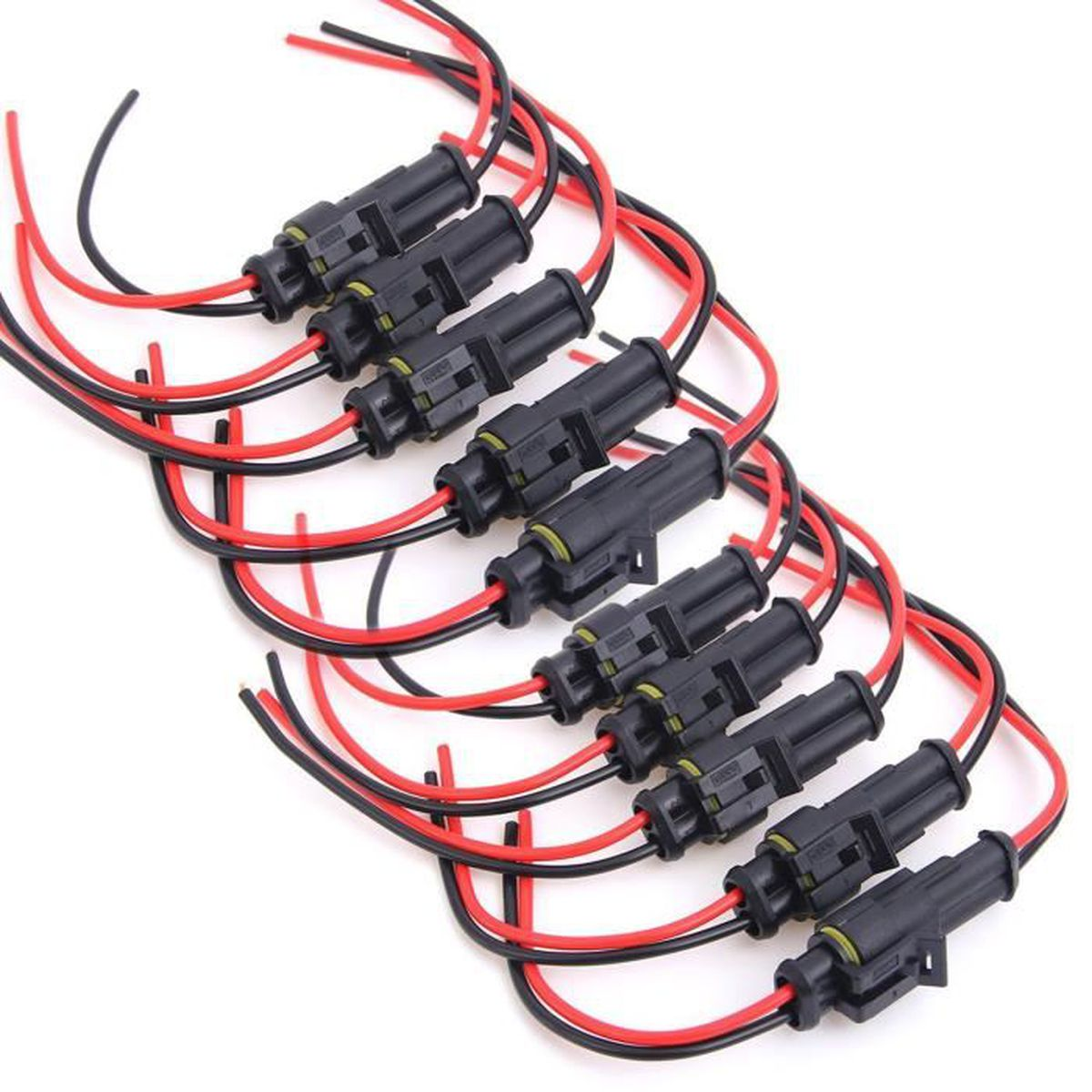 10x Connecteur Electrique Contact Superseal 2-Poles sans Cable Etanche Voiture Auto