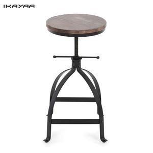 TABOURET DE BAR iKayaa chaise style industrielle ajustable pour cu