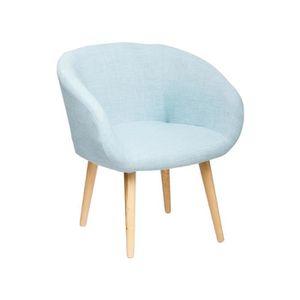 CHAISE NYM Fauteuil en tissu bleu - Style scandinave - L