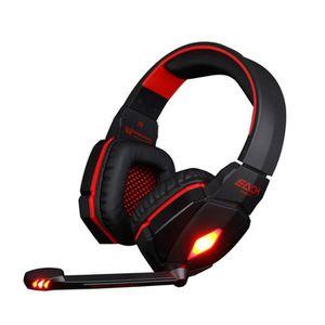 CASQUE - ÉCOUTEURS CHAQUE G4000 casque Pro stéréo Gaming Headset casq