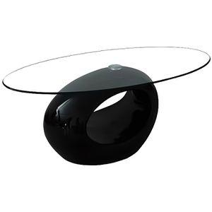 Table Basse Design Noir Verre Achat Vente Pas Cher