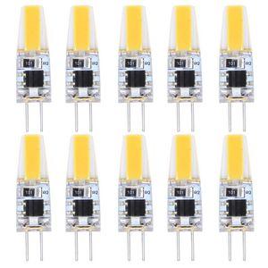 AMPOULE - LED 10X G4 LED Bulb 2W COB Ampoule Lampe Blanc Chaud 2