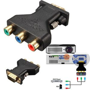 ADAPTATEUR AUDIO-VIDÉO  Adaptateur - 3 RCA RGB RGsB Video Femelle VERS HD
