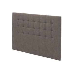 TÊTE DE LIT Tete de lit Gaia capitonée tissu Chocolat L. 150