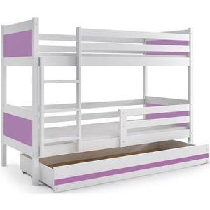 lit superpos mezzanine blanc achat vente lit superpos mezzanine blanc pas cher cdiscount. Black Bedroom Furniture Sets. Home Design Ideas