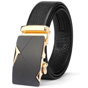 9fe1b4663f241 CEINTURE ET BOUCLE Ratchet ceinture en cuir pour homme avec noir bouc ...
