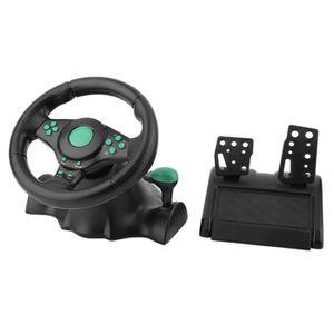 VOLANT JEUX VIDÉO Volant de course + pédales Pour Xbox 360 PS2 PS3 e