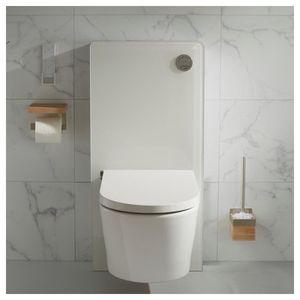 WC - TOILETTES Pack wc suspendu avec bati support et cuvette sans