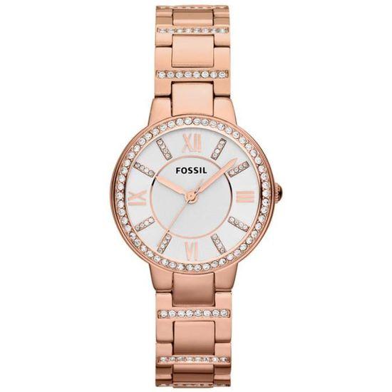Montre Femme Fossil Virgina Es3284 Fashion Rose Rose Blanc