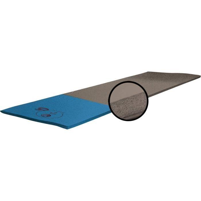 GVG Tapis de sol Oxygène - Mixte - Marron et bleu