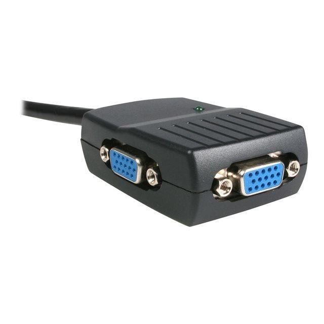 STARTECH Répartiteur vidéo VGA à 2 ports - Splitter VGA alimenté par USB - Doubleur VGA