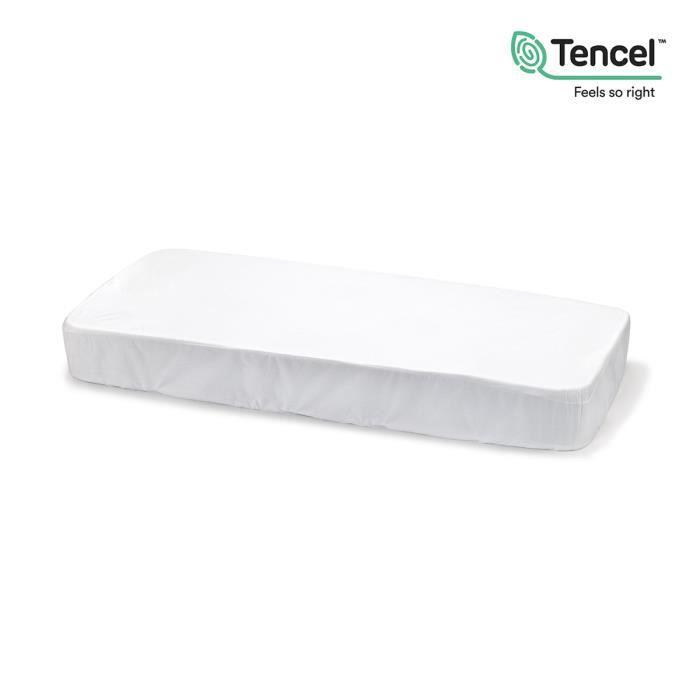 drap housse impermeable tencel DRAP HOUSSE IMPERMÉABLE TENCEL 70x140 CM LISO E BLANC   Achat  drap housse impermeable tencel