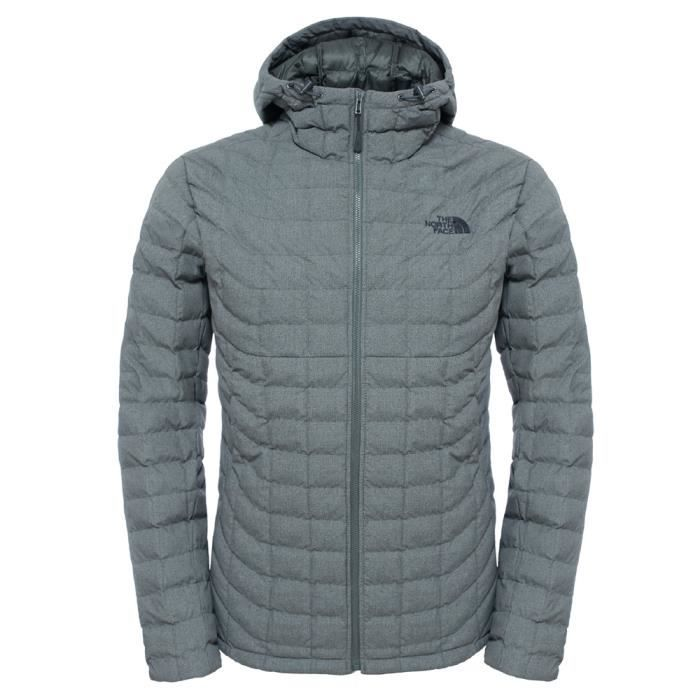 8e43c5f642 Veste à capuche The North Face Thermoball Hoodie Gris Gris - Achat ...