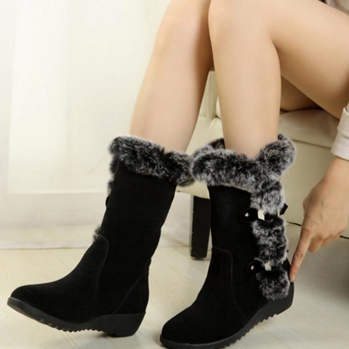 HUIXIN®la plate - forme des lianes glissent sur les bottes de bottines de femme