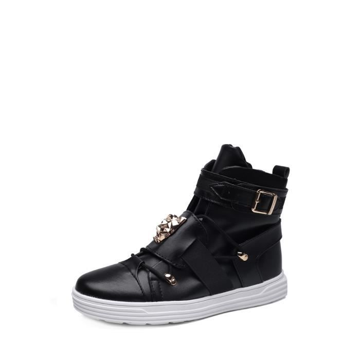 Bottes Punk Style Mode homme Tête d'un animal Chaussures de motif 7555664