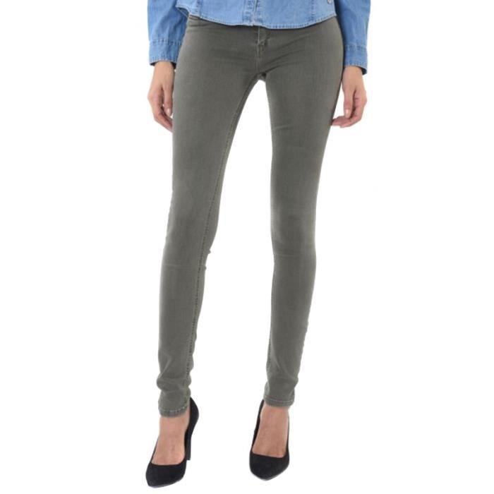 b2d4f6aae68f Jean Skinny Power Kaki Femme Kaporal Vert Vert - Achat   Vente jeans ...