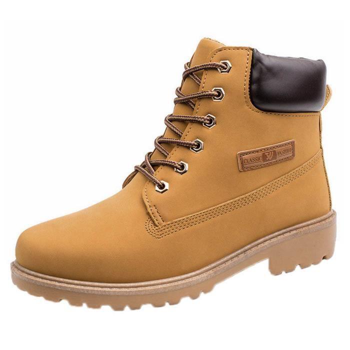 ba850c88c26f 6495@Les hommes Bottines fourrure d'hiver Doublé automne chaud Chaussures  Martin Bottes 3164