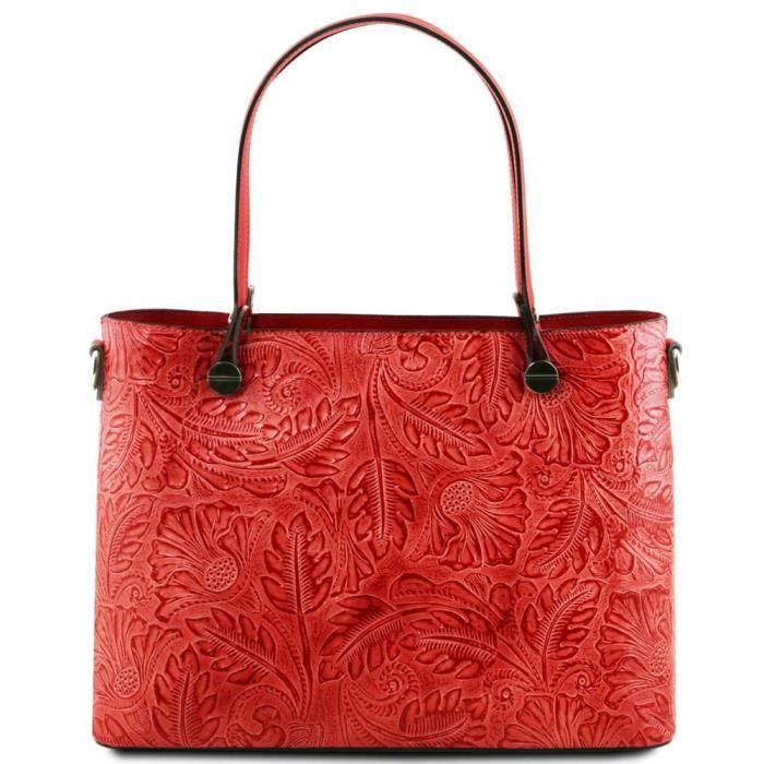Tuscany Leather - Sacs à bandoulière en cuir - Atena - Rouge Lipstick (TL141655)