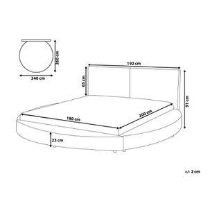 lit rond avec matelas achat vente lit rond avec matelas pas cher cdiscount. Black Bedroom Furniture Sets. Home Design Ideas