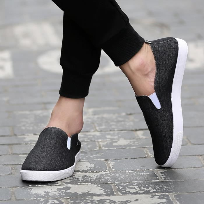 De haute qualité nouvelle mode 2016 été Mules Chaussures de toile pour hommes respirante Mode casual Mocassins Driving Chaussures dwxPs