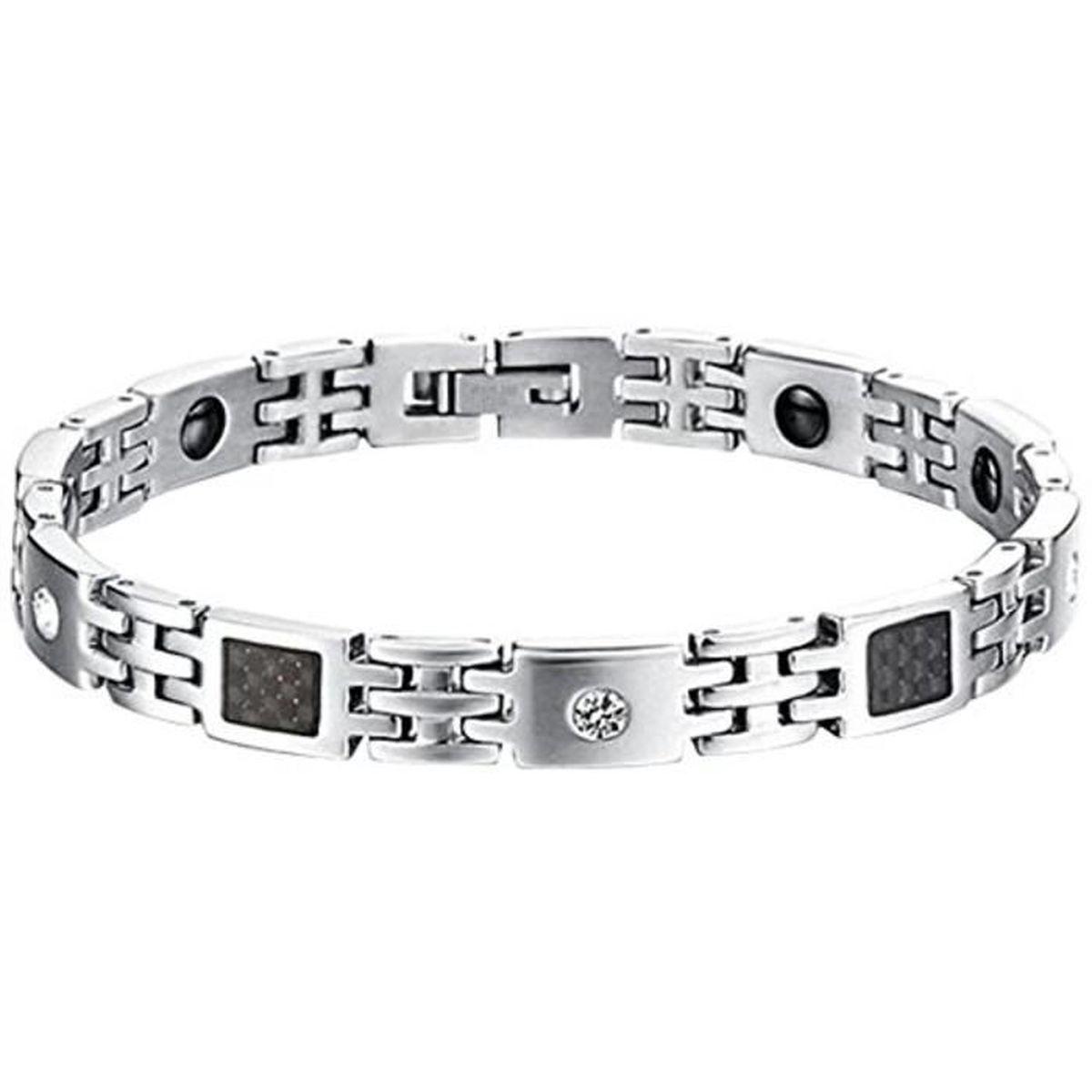 Bracelet Fibre Magnétique Saint Noir Femme Bijoux De Carbone yvf76Ybg