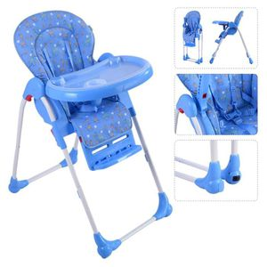 CHAISE - TABOURET BÉBÉ Chaise haute de bébé pour enfants réglable pliable