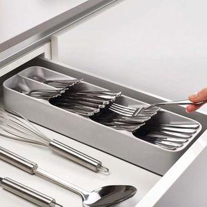RANGE USTENSILES Rangement couverts pour tiroir, Range-couverts Gri