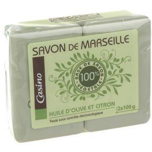 SAVON - SHAMPOING BÉBÉ Lot de 2 Savons Marseille Olive - 2x100 g