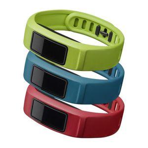 CARDIOFRÉQUENCEMÈTRE GARMIN Pack 3 Bracelets Vivofit 2 Active - Taille
