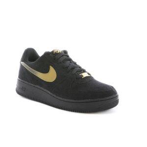 énorme réduction ad806 118f3 Basket Nike air force 1 en daim ... Black Noir Black - Achat ...