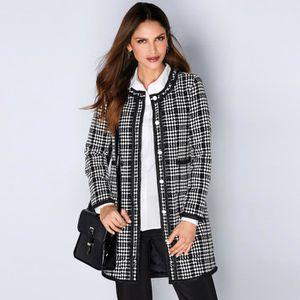 MANTEAU - CABAN Manteau bicolore biais contrastés femme
