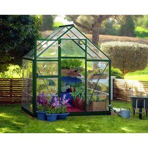 SERRE DE JARDINAGE PALRAM Serre de jardin verte Harmony 2,3 m² - Alum