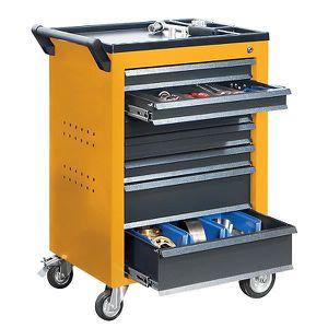ARMOIRE DE BUREAU QUIPO Servante d'atelier - 7 tiroirs à blocage ind