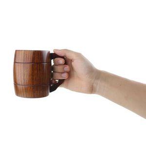 Verre à eau - Soda 1pc Eco-Friendly Artesanat bricolage en bois Lait