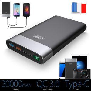 BATTERIE EXTERNE Vinsic® 20000mAh batterie externe QC 3.0 batterie