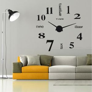 HORLOGE - PENDULE Autocollants muraux d'horloge murale numérique bri