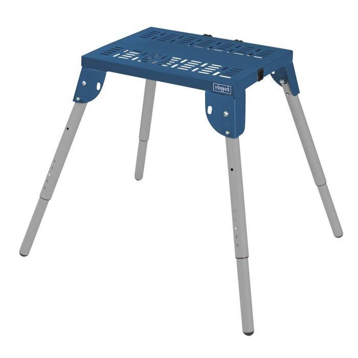 SCHEPPACH Table multifonctions 60x45 cm ajustable à 6 niveaux MT60