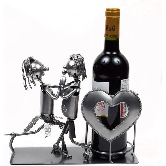 Porte bouteille de vin metal achat vente porte - Porte bouteille de table ...