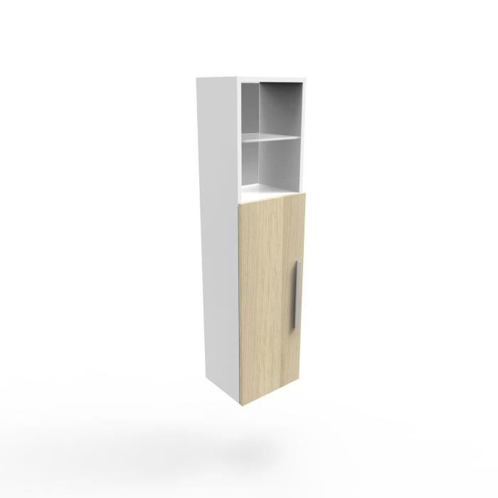 demi colonne de salle de bain naturel et blanc l30 o trouver loffre meuble colonne blanc 30 cm largeur