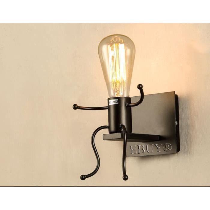 E27 Créatif Lampe Ebuy® Murale De Forme L'homme xodBeCr