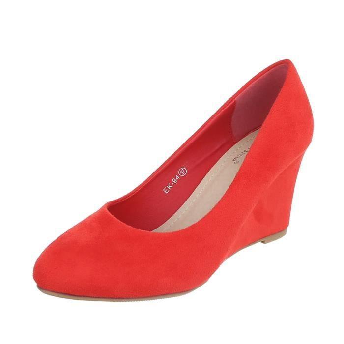 Chaussures femme escarpin semelle compenséerouge 41