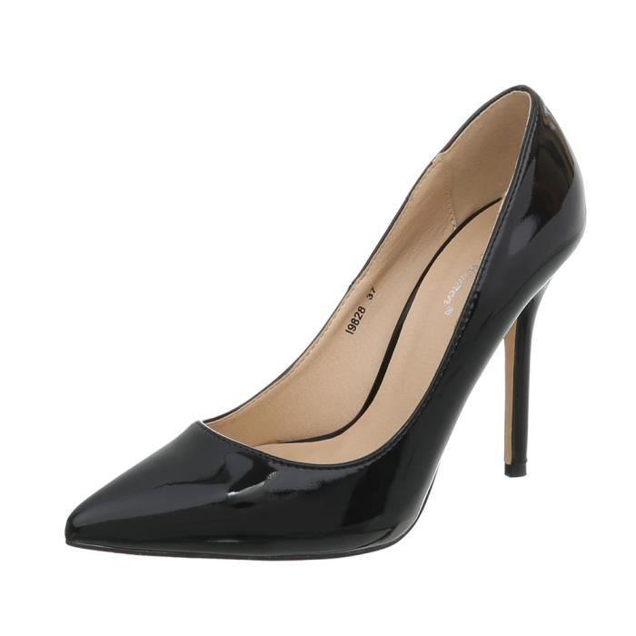 Sandales Heels Soire Femme De Talon 36 Noir Aiguille Escarpin High Blanc Chaussures q80St1t