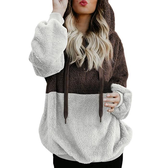 Amour Blouse Pull Femme À Café Zippée Capuche Hiver Sweat Chemises Chaud poche rrg14zq8w