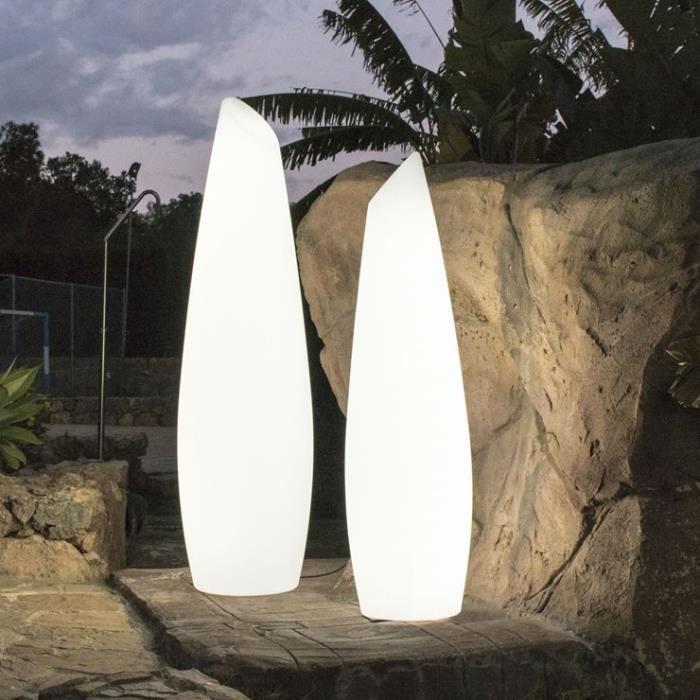 Lampadaire 46 5cm D'extérieur 36cm Base Led H170cm Blanc Câble Avec New 170cm Garden Ø Fredo H XkZiTwOlPu