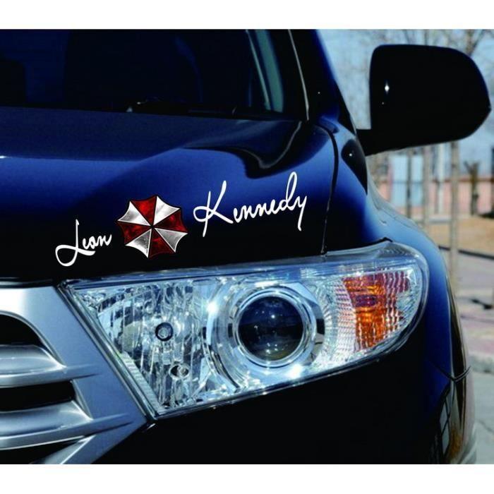BLANC Sticker Voiture Étanche Resident Evil Décoration Véhicule Fenêtre Autocollant Réfléchissant