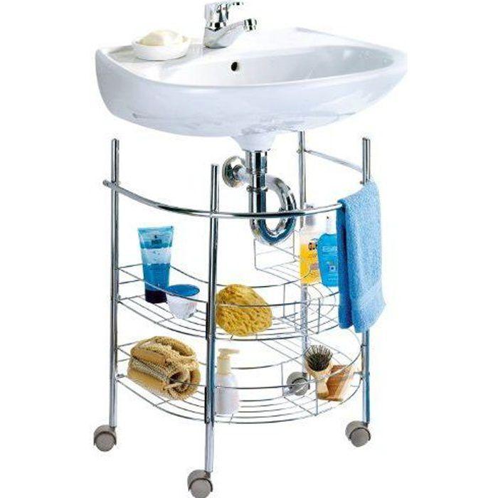 wenko 7385100 etag re sous lavabo chrome achat vente meuble vasque plan etag re. Black Bedroom Furniture Sets. Home Design Ideas