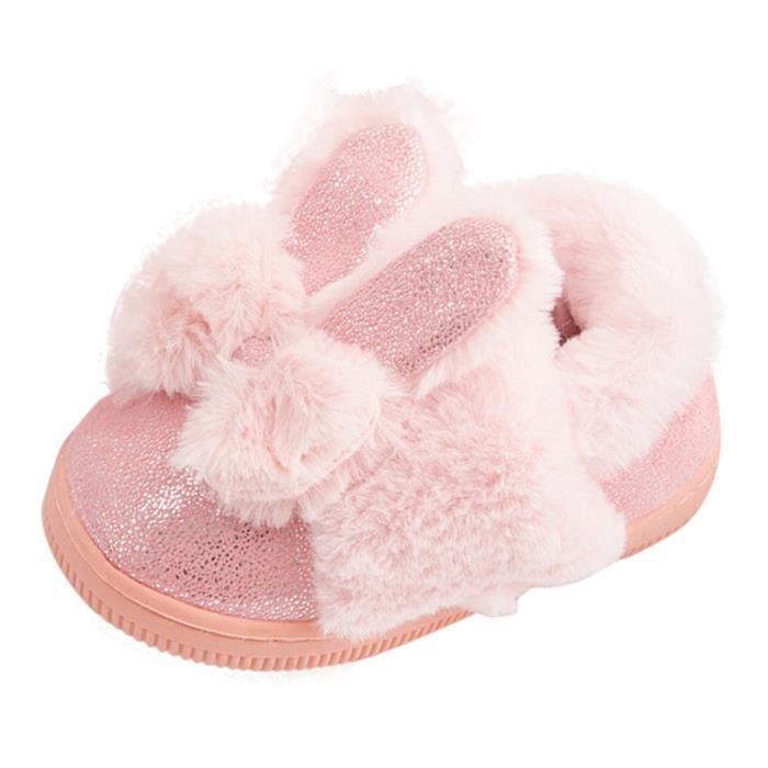 BOTTE Bébé Laine Bowknot Caoutchouc Semelle Souple Bottes de Neige Doux Berceau Chaussures Bottes Tout-Petits@RoseHM j6jNFFxVE