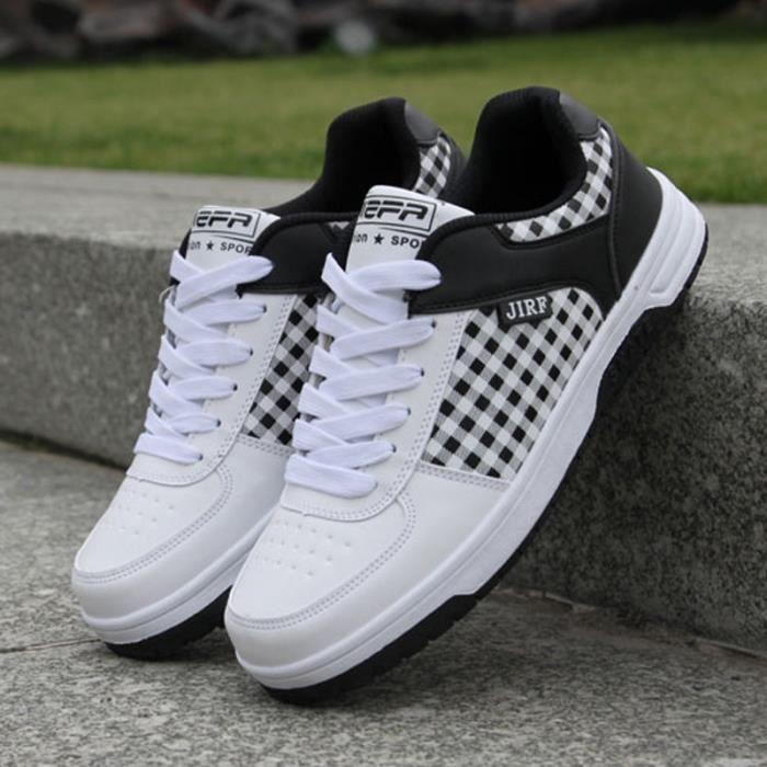hommes up cuir skate taille de supérieur baskets PU Lace bottes Plus chaussures T7qC5