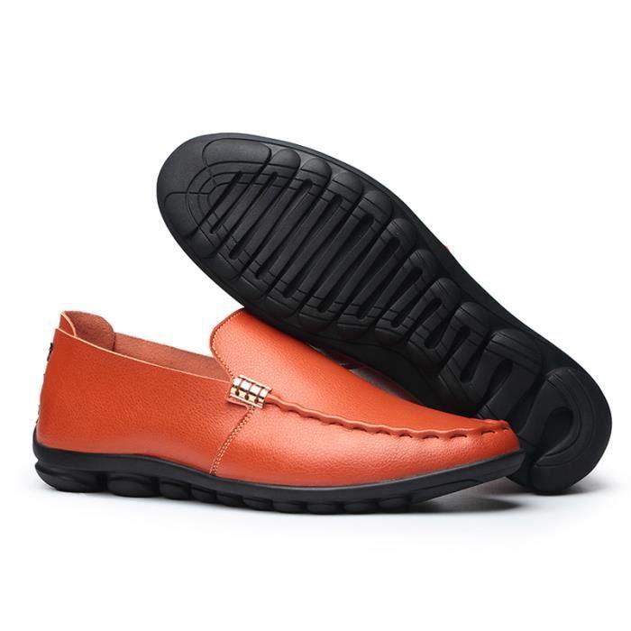 Véritable Design Chaude Plat La Vente En Hommes Main Chaussures À Mocassins Glissent Mode Hommes Hommes Respirant Chaussures Cuir De 1BXwaqqI